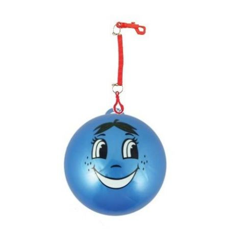 Smelly Fruits Smiley Face Foot Ball With Hook & Spiral Keyring (1 Supplied)